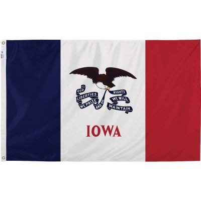 Valley Forge 3 Ft. x 5 Ft. Nylon Iowa State Flag