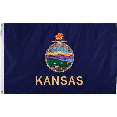 Valley Forge 3 Ft. x 5 Ft. Nylon Kansas State Flag