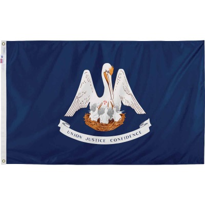 Valley Forge 3 Ft. x 5 Ft. Nylon Louisiana State Flag