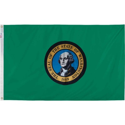 Valley Forge 3 Ft. x 5 Ft. Nylon Washington State Flag