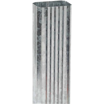 Amerimax 2 In. x 3 In. Galvanized Downspout