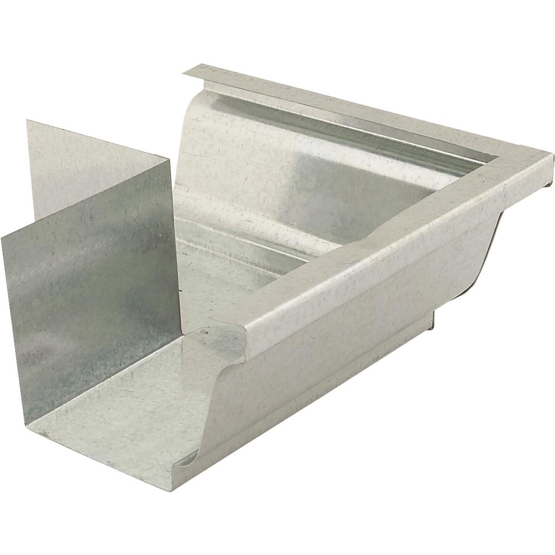 NorWesco 4 In. Galvanized Gutter Outside Corner Image 1