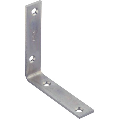 National Catalog 115 4 In. x 7/8 In. Zinc Corner Brace