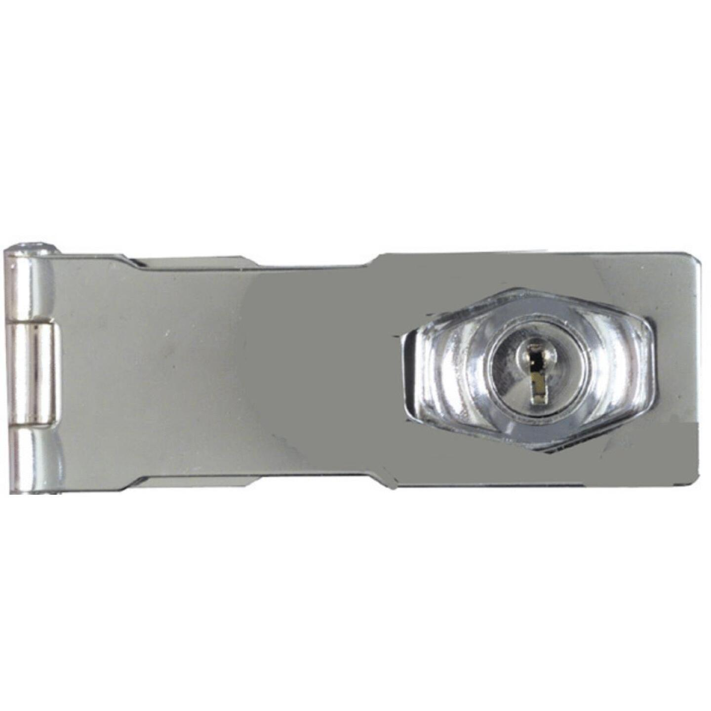 National 4-1/2 In. Keyed Different Hasp Lock Image 2