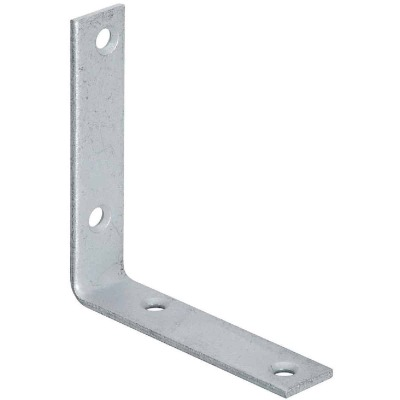National Catalog 115 4 In. x 7/8 In. Galvanized Corner Brace