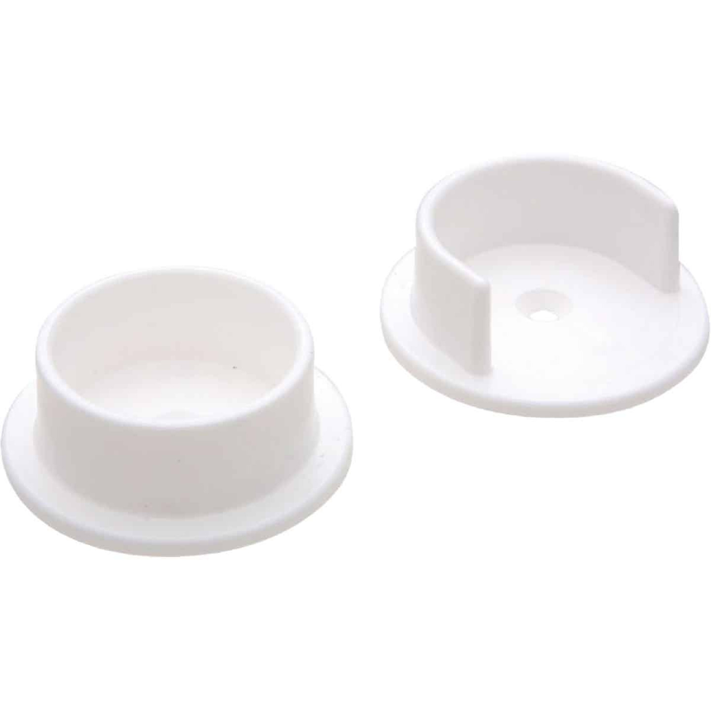 National 1-3/8 In. Plastic Closet Rod Socket, White (2 Per Bag) Image 1