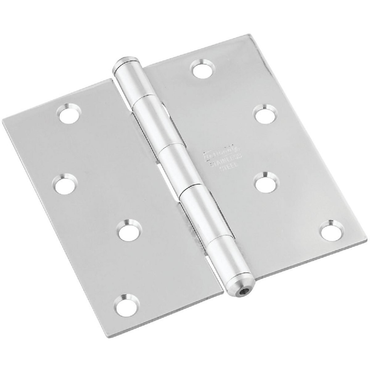 National 4 In. Square Stainless Steel Door Hinge Image 1