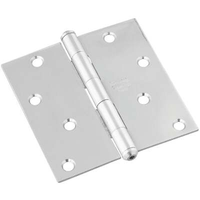 National 4 In. Square Stainless Steel Door Hinge