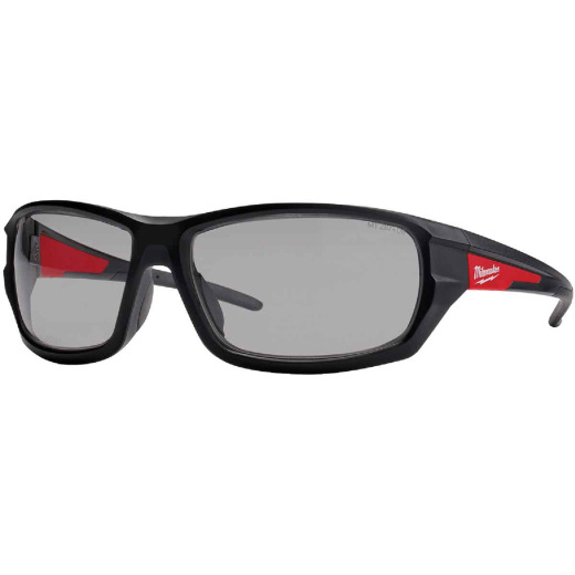 Milwaukee Performance Red & Black Frame Safety Glasses with Gray Fog-Free Lenses