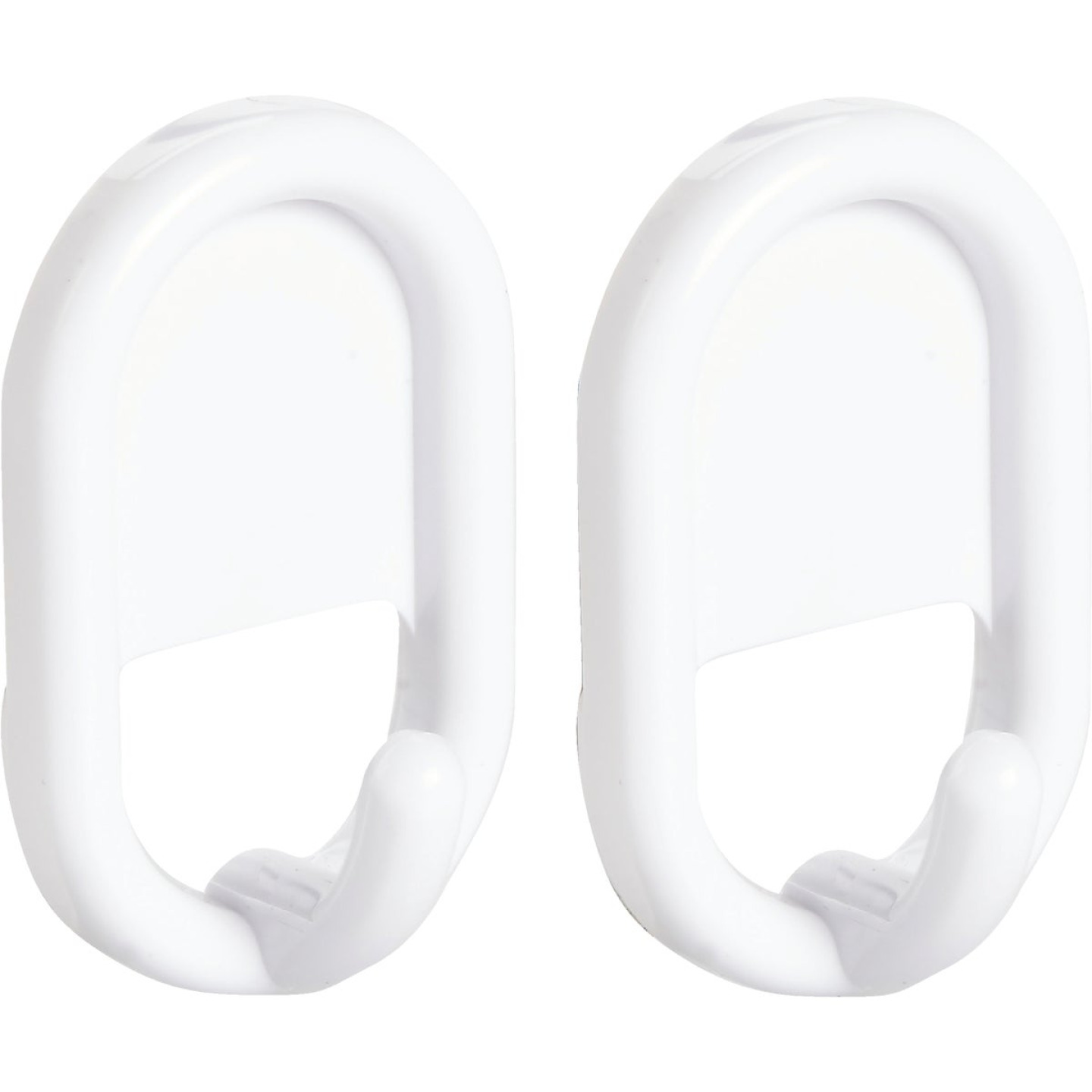 InterDesign Utility White Plastic Adhesive Hook (2-Pack) Image 1