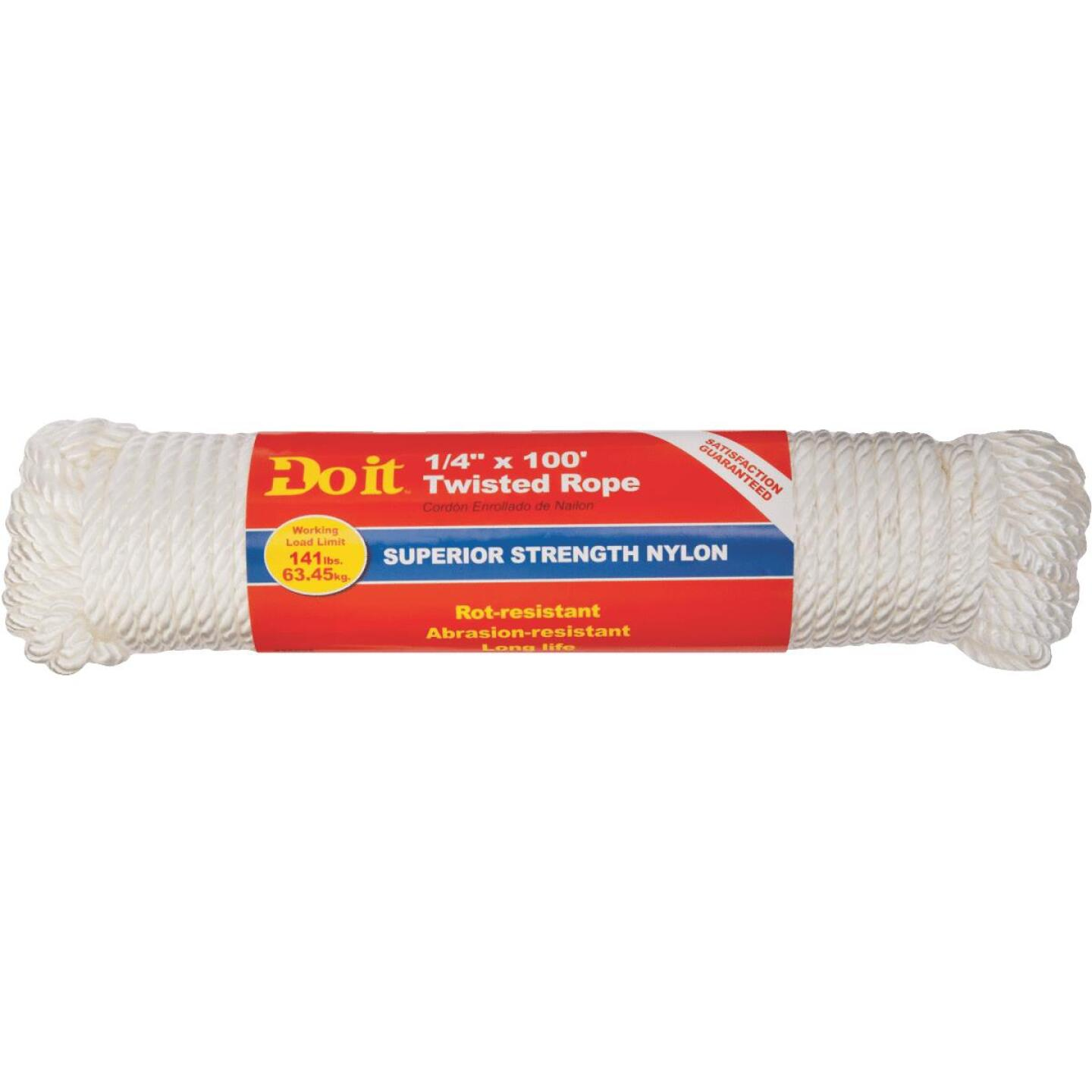 Do it 1/4 In. x 100 Ft. White Twisted Nylon Packaged Rope Image 2
