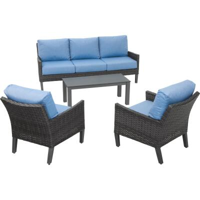 North Cape Amari 4-Piece Chat Set with Cushions
